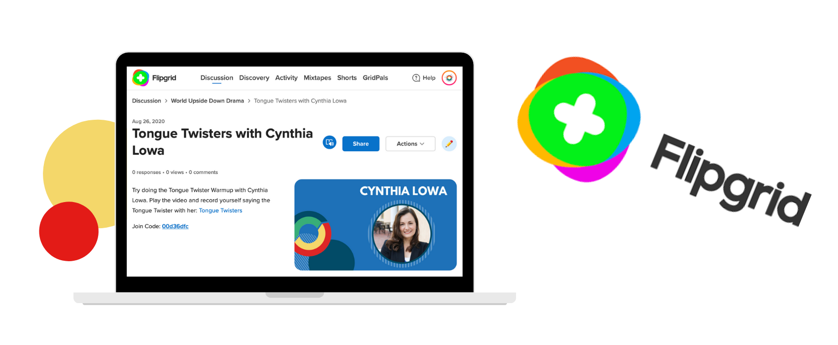 Teaching theater online: FlipGrid