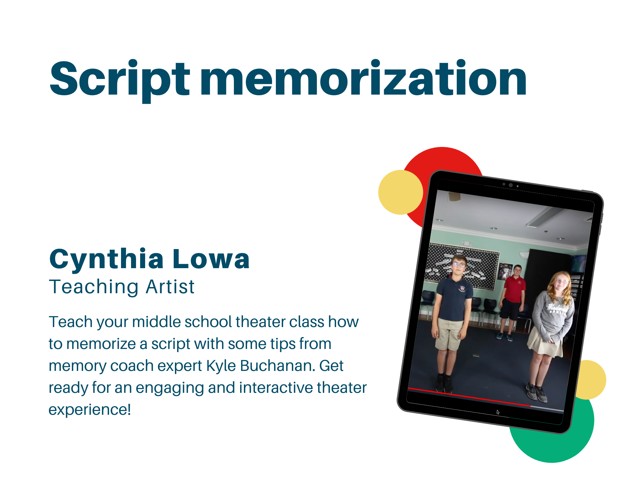How do actors memorize their lines