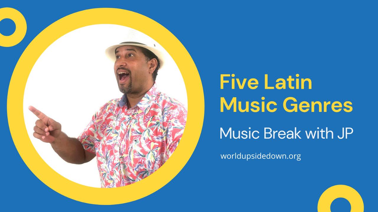Jairo Puello teaches music activities for hispanic heritage month