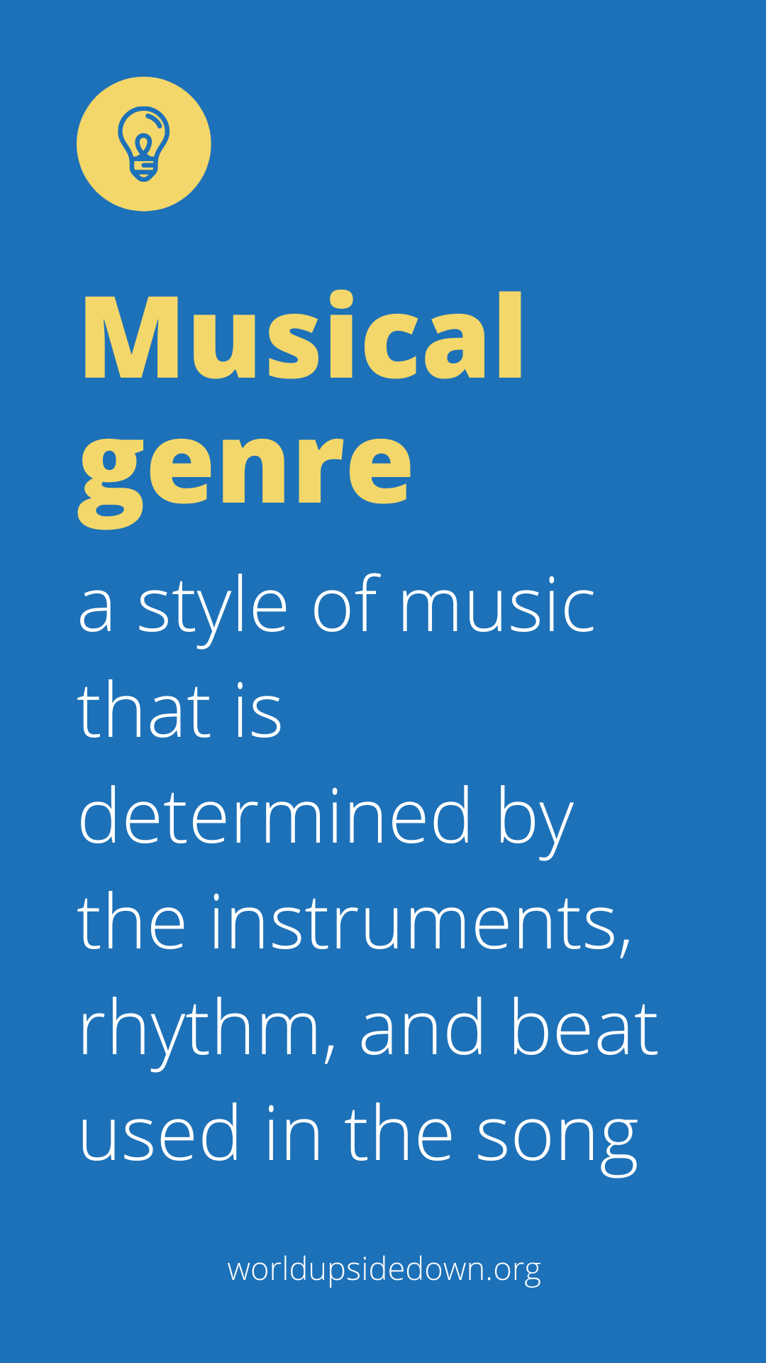 definition of musical genre for music activities for Hispanic Heritage Month